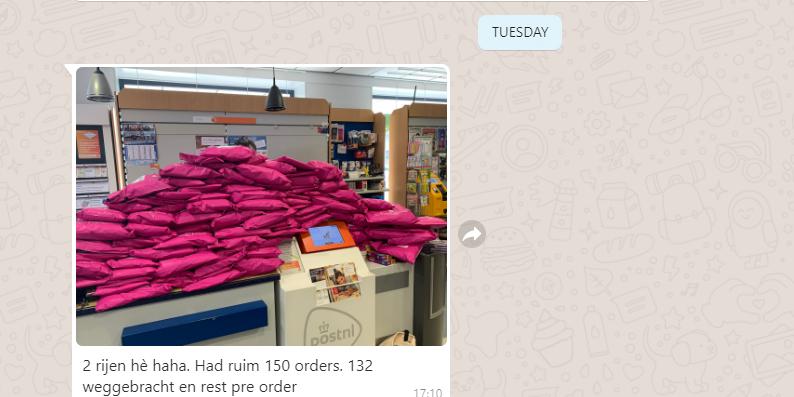 150 orders in één dag